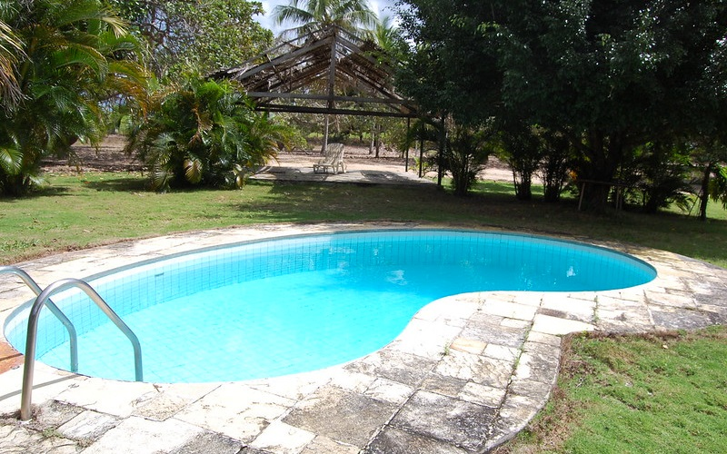 swimming pool dated look