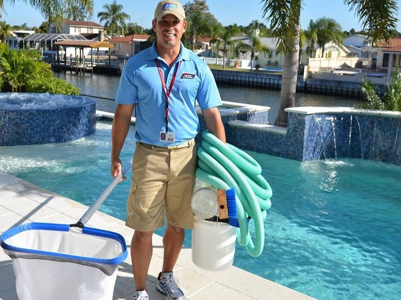 Professional pool water treatment